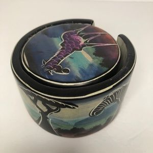 Other - Painted Soapstone African Animal Coaster Set